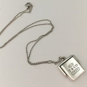 Tiffany and Co. square pendant necklace